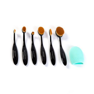 London Pride Multi Purpose Oval Makeup Brush Set Black