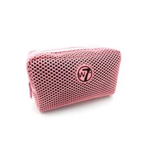 W7 Mesh Cosmetics Bag Pink