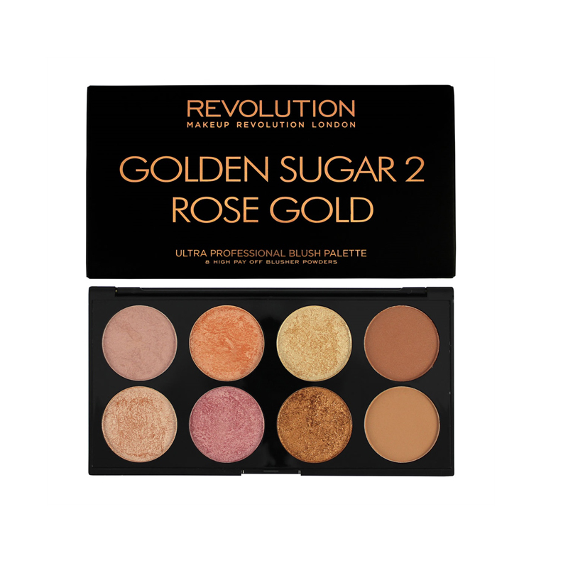 Makeup Revolution Ultra Palette Golden Sugar 2 Blush Bronze Highlight