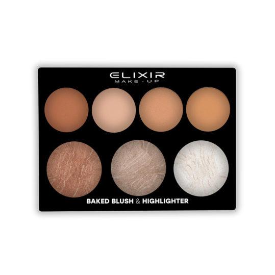 Elixir Baked Blush & Highlighter Palette