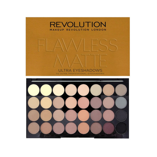 Makeup Revolution Flawless Matte Ultra 32 Shade Eyeshadow Palette