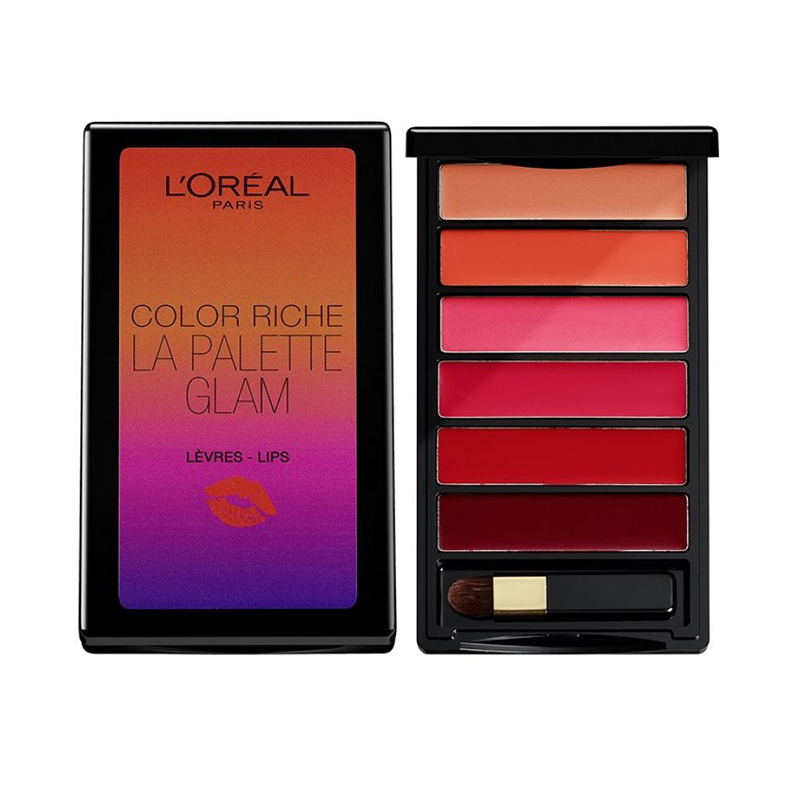 L'oreal Lip Palette Glam Color Riche 6g