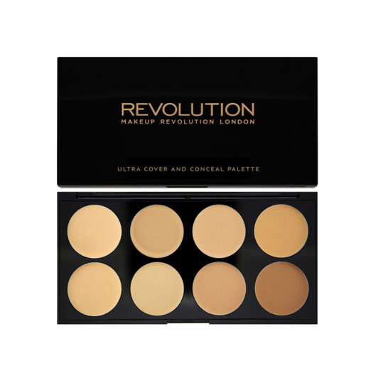 Makeup Revolution Ultra Cover and Conceal Palette Medium Light