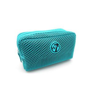 W7 Mesh Cosmetics Bag Turquoise