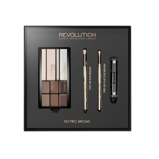 Makeup Revolution HD Pro Brows Gift Set