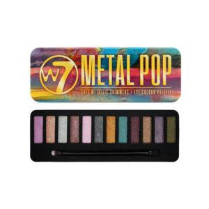 W7 Metal Pop Metallic Shimmers Palette