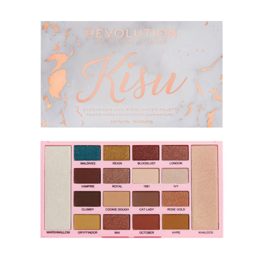 Makeup Revolution X Kisu Eyeshadow & Highlighter Palette