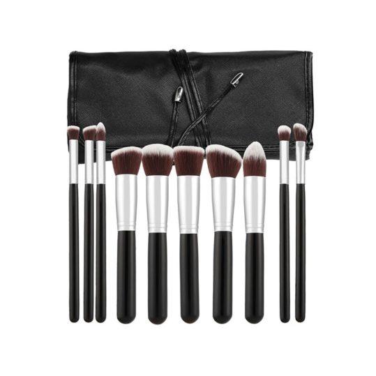 Tools For Beauty Kabuki 10pcs Brush Set Black