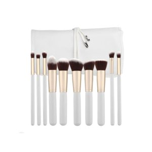 Tools For Beauty Kabuki 10pcs Brush Set White