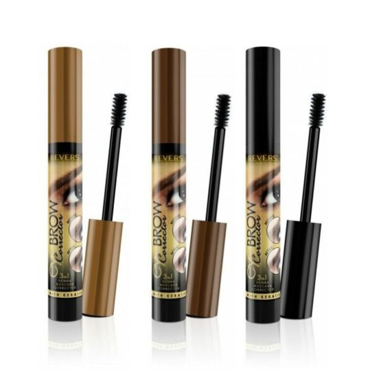 Μάσκαρα Φρυδιών Revers Eyebrow Corrector 3in1 Henna