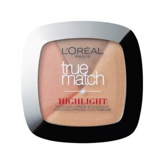 L'Oreal True Match 2 in 1 Powder Glow Illuminator 102D/W Golden Glow 9gr