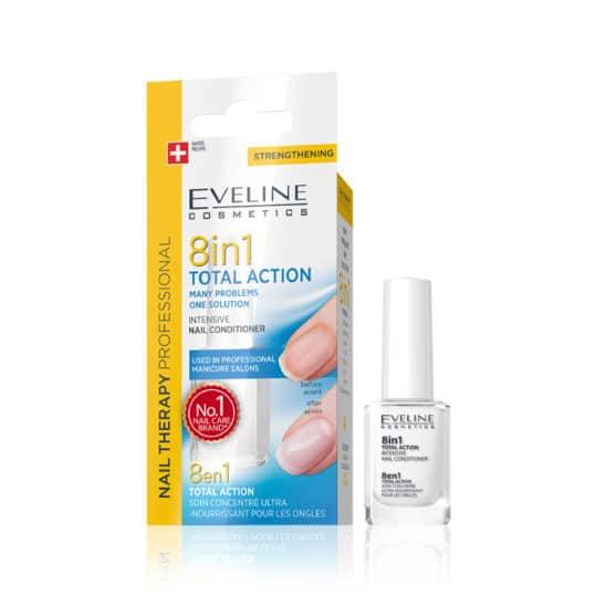 Θεραπεία Νυχιών Eveline Nail Therapy 8 in 1 Total Action