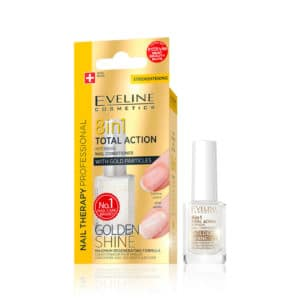 Θεραπεία Νυχιών Eveline Nail Therapy 8 in 1 Golden Shine