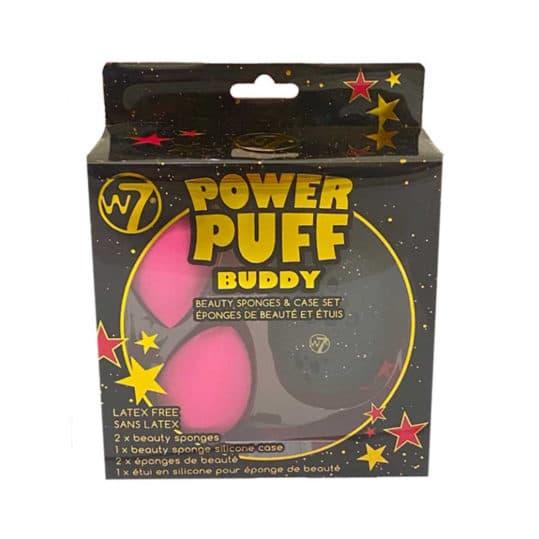 W7 Power Puff Buddy Beauty Sponge & Case Set
