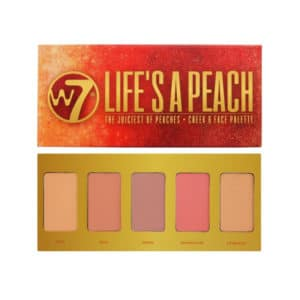 Παλέτα Ρουζ W7 Life's a Peach Cheek & Face Palette