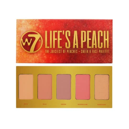 Παλέτα Ρουζ W7 Life's a Peach Cheek & Face Palette
