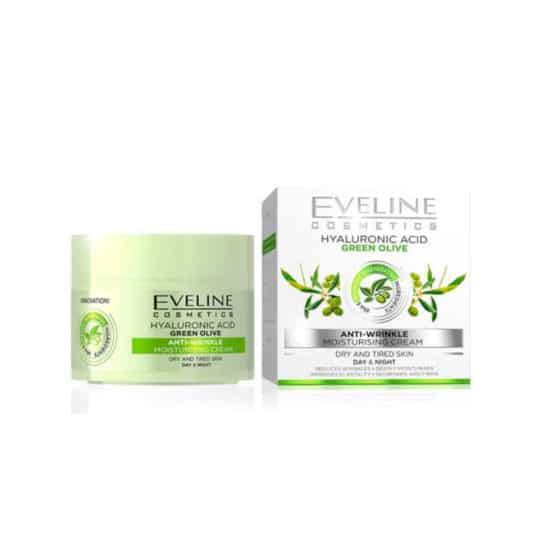 Eveline Hyalouronic Acid Green Olive Anti Wrinkle Cream