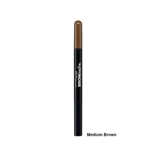 Maybelline Brow Satin Eyebrow Pencil Duo 04 Dark Brown