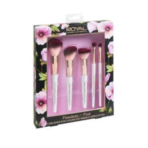 Royal Flawless In Five Makeup Brush Set