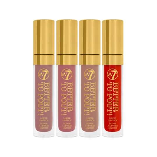 W7 Better to Pout! Liquid Lipstick Set