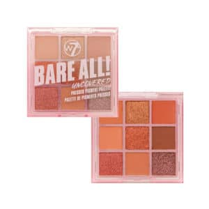 W7 Bare All Pressed Pigment Palette Uncovered