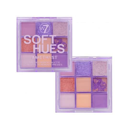 W7 Soft Hues Amethyst Pressed Pigment Palette