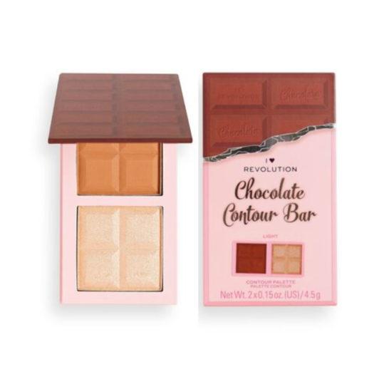 I Heart Revolution Chocolate Contour Palette Light