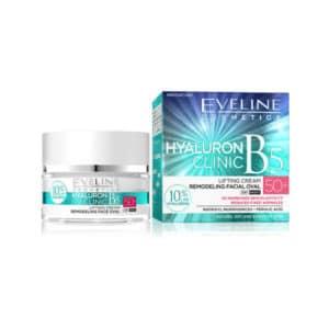 Eveline Hyaluron Clinic Anti Wrinkle Cream 50+ 50ml