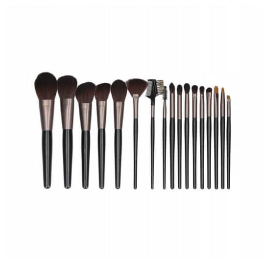 Tools For Beauty Black 18pcs Brush Set