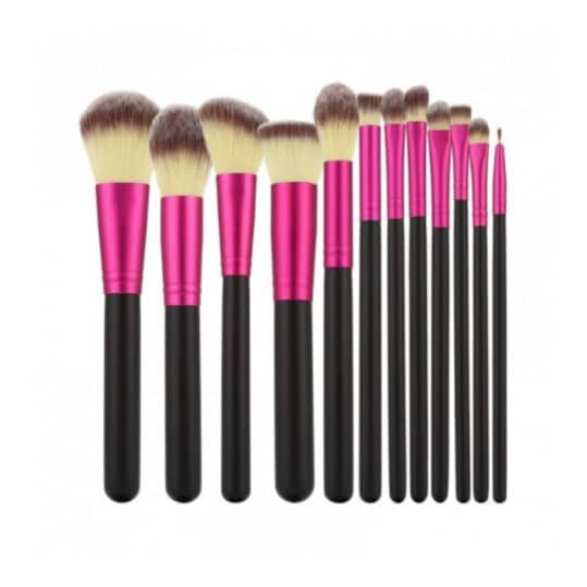 Tools For Beauty Black Pink 12pcs Brush Set