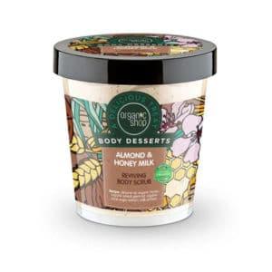 Organic Shop Body Desserts Almond & Honey Milk Reviving Body Scrub 450ml
